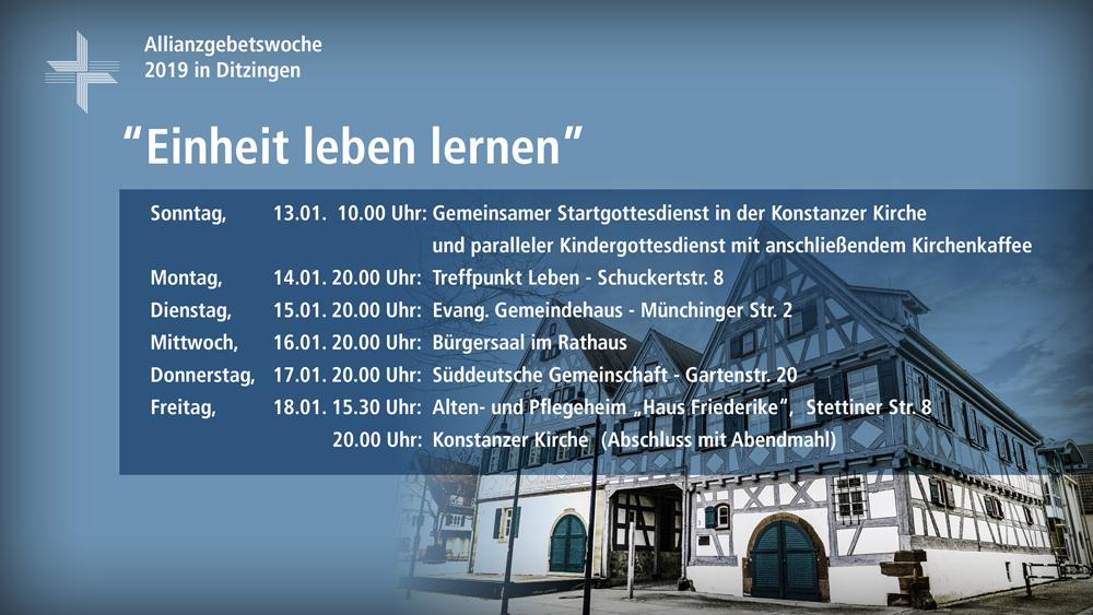 Allianzgebetswoche - Evangelisches Gemeindehaus @ Evangelisches Gemeindehaus